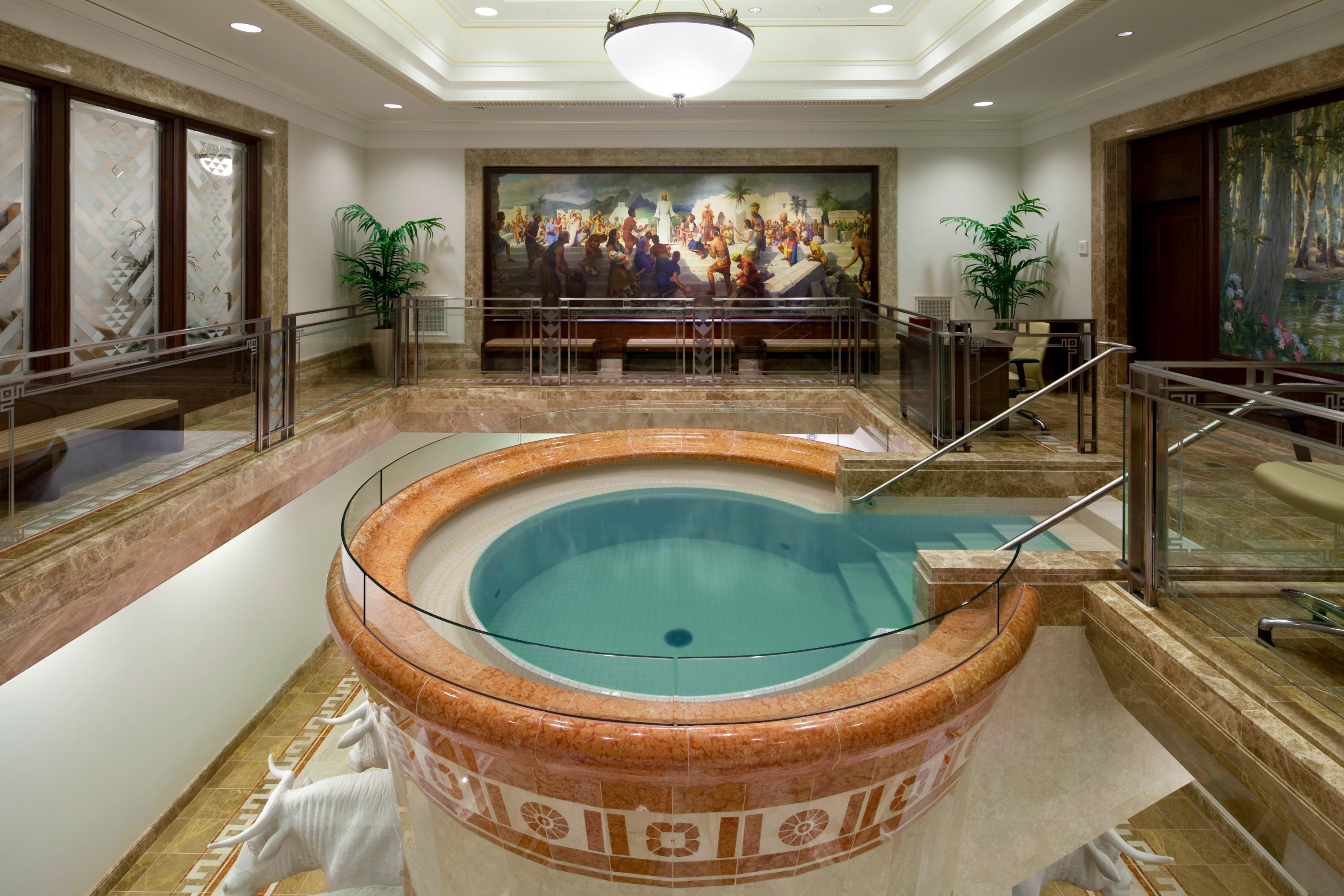 Mormon Temple baptismal font