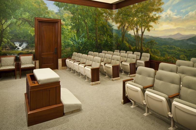 Mormon Temple endowment ordinance room