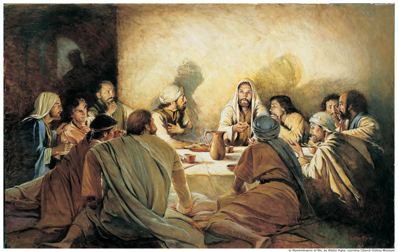 A painting depicting Jesus Christ's Last Supper with his Apostles.
