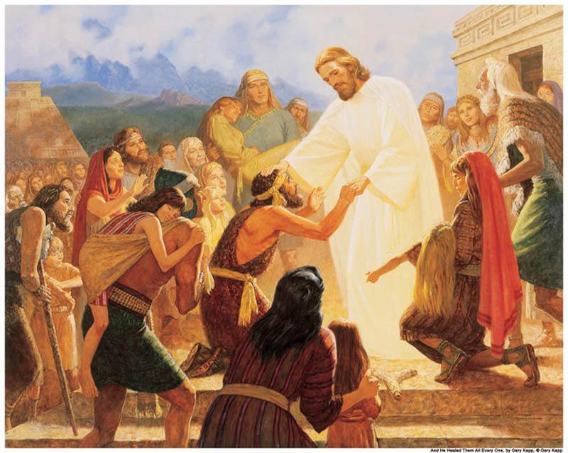 Jesus Heal Nephites America Mormon
