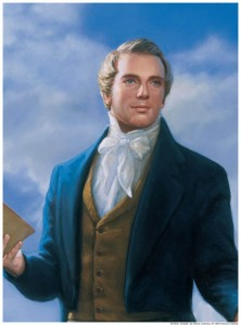 A painting of Joseph Smith Jr., the Mormon Prophet.