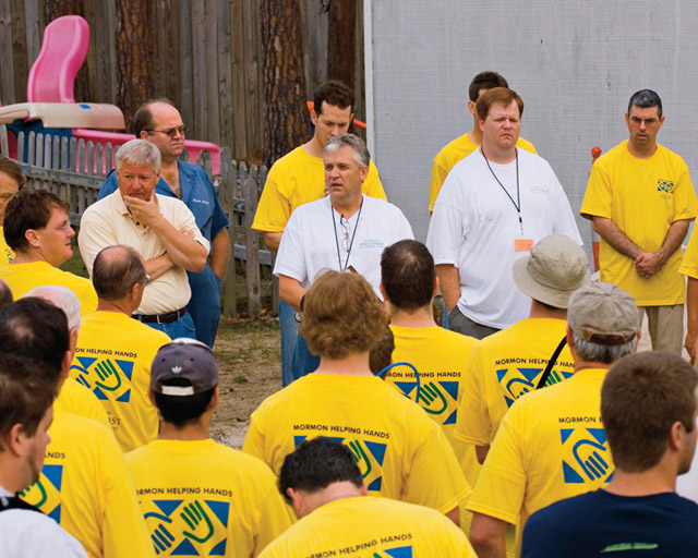 A photo of the Mormon Helping Hands group.