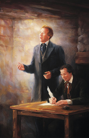 Joseph Smith receiving revelation