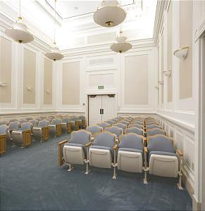 A photo of the Sacramento Mormon Temple ordinance room.