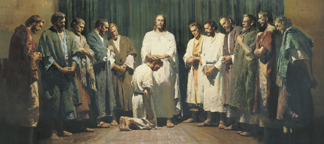 Jesus Christ ordaining His Twelve Apostles