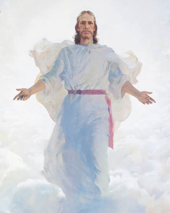 A painting depicting the second coming of Christ.
