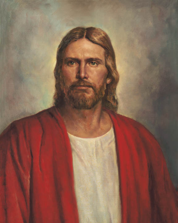"A painting called ""Christ in Red Robe"" by Del Parson."