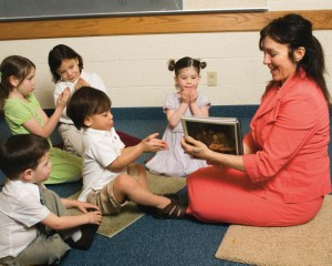 A photo of a Mormon primary class.