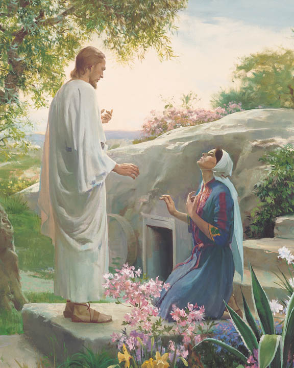 The resurrected Jesus Christ with Mary Magdalene