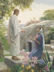 A painting depicting the resurrected Christ appearing to Mary in the garden.