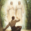 Jesus Christ teaches Joseph Smith about His pure Christianity in what Mormons now call the First Vision.