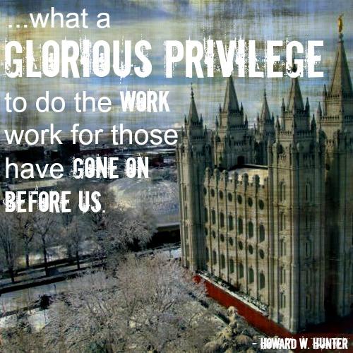 geneology slc temple priviledge lf