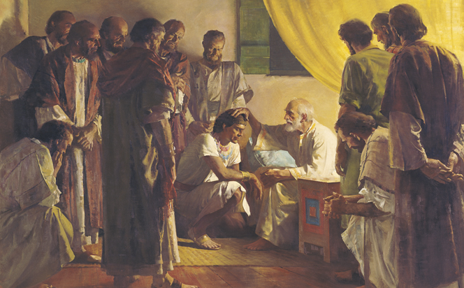 Jacob blessings his sons.