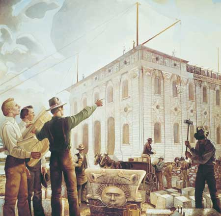 Joseph Smith directed the building of the Nauvoo Temple