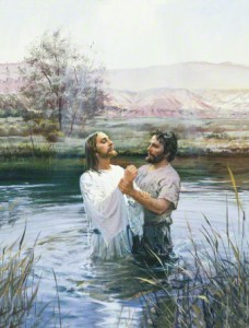 John baptizes Jesus Christ