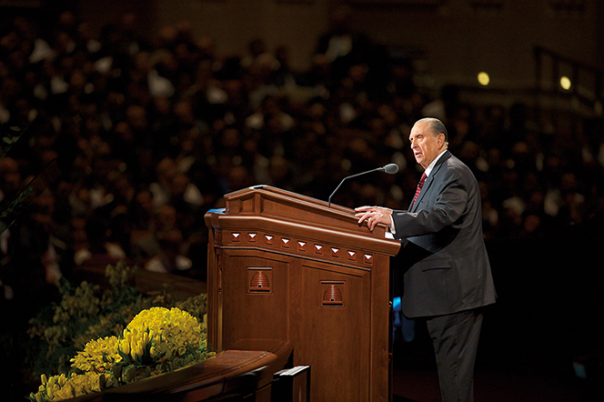 Mormon President Monson at General Conference