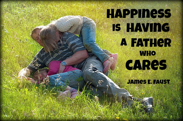 Happiness father with kids