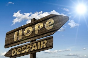 Despair is a sign of depression, but hope can still overcome it.