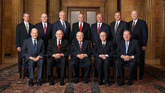 Quorum of the Twelve Apostles is the head of the LDS Church organization