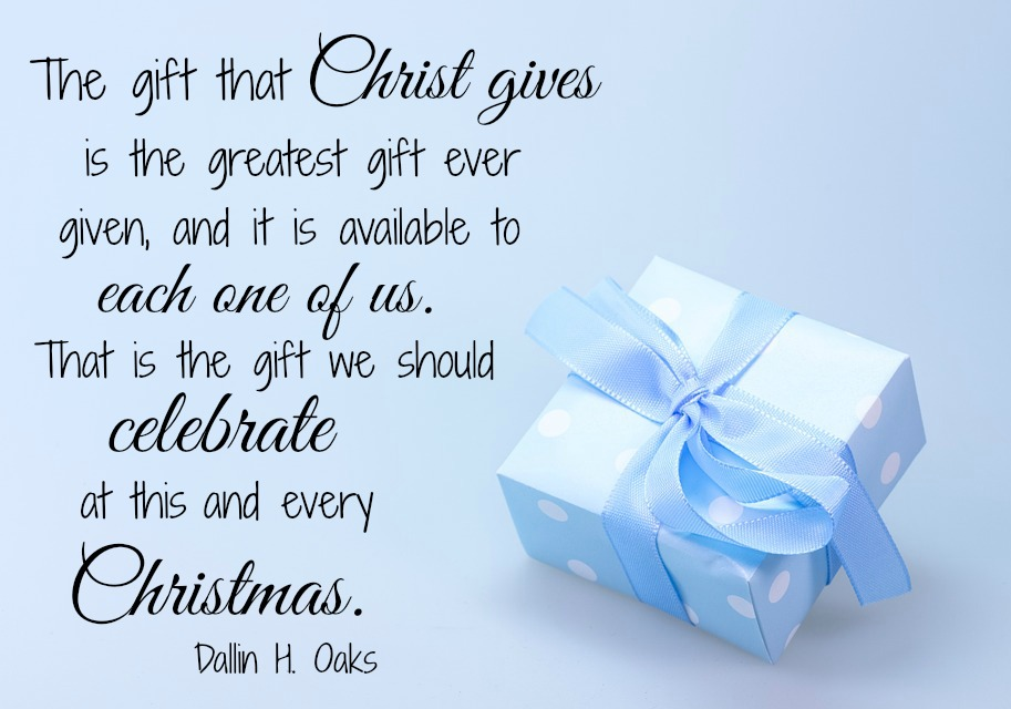 The gift that Christ gives is the greatest ever given.