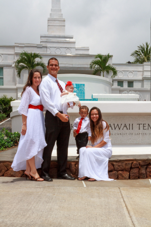 Families sealed in the holy temple can be together forever.