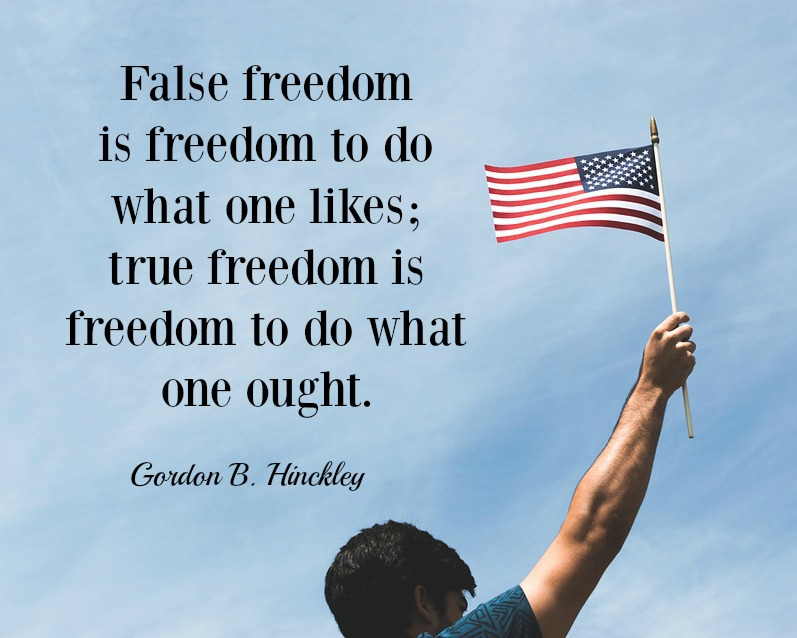 True freedom is freedom to do what one ought.