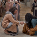 Jesus Christ with the woman taken in adultery