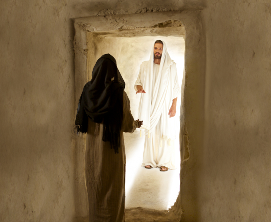 Jesus Christ appears to Mary Magdalene after His Resurrection.
