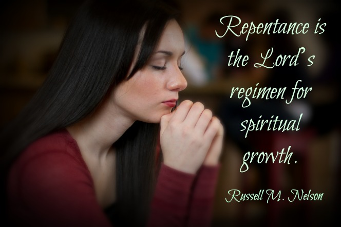 Repentance is the Lord's regimen for spiritual growth. Russell M. Nelson
