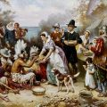The First Thanksgiving, oil on canvas, by Jean Leon Gerome Ferris