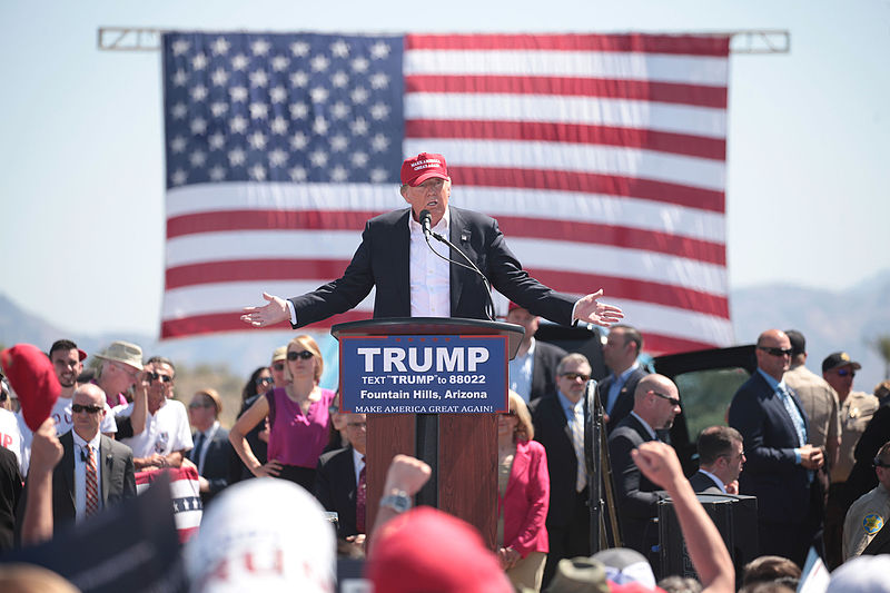 Donald Trump in Fountain Hills, Arizona.