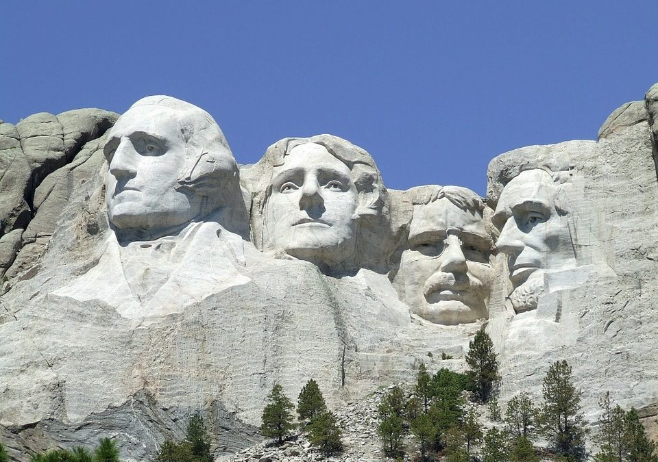 Mount Rushmore honors our past presidents