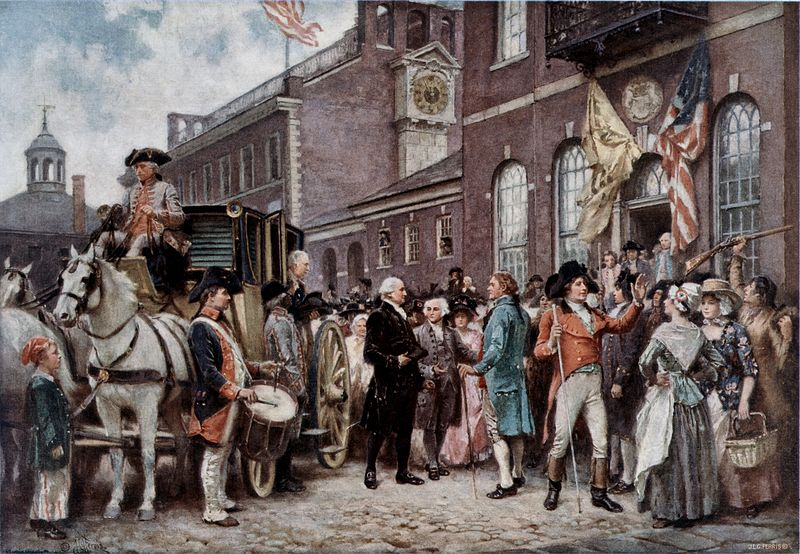 The second inauguration of George Washington.