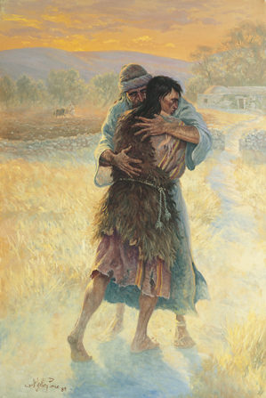 The prodigal son illustrates that true disciples of Christ are merciful and forgiving.