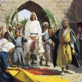 Jesus Christ's triumphal entry into Jerusalem.