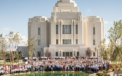 Celebrating a Mormon Temple Dedication