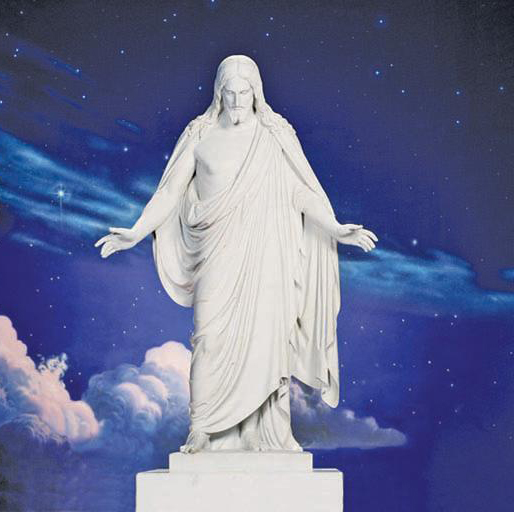 The Christus statue on Temple Square in Salt Lake City.