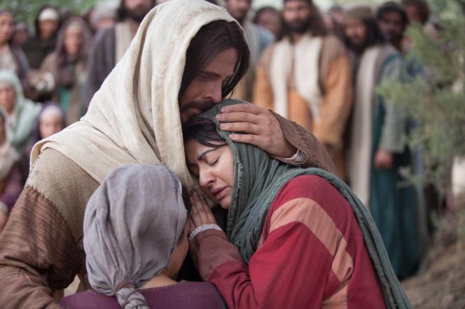 Jesus Christ comforting Mary and Martha.