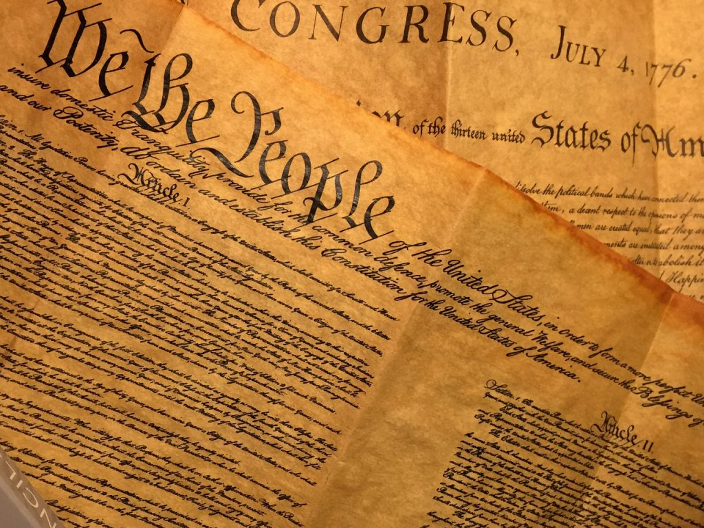 "The Preamble to the U.S. Constitution begins with ""We the People."""